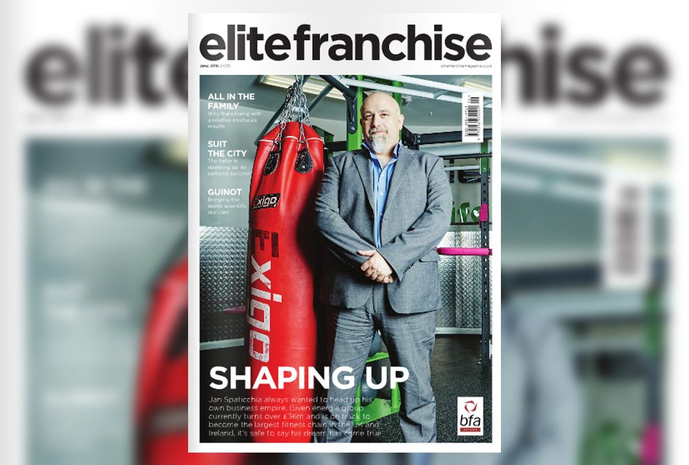 énergie Featured on the Cover of Elite Franchise Magazine